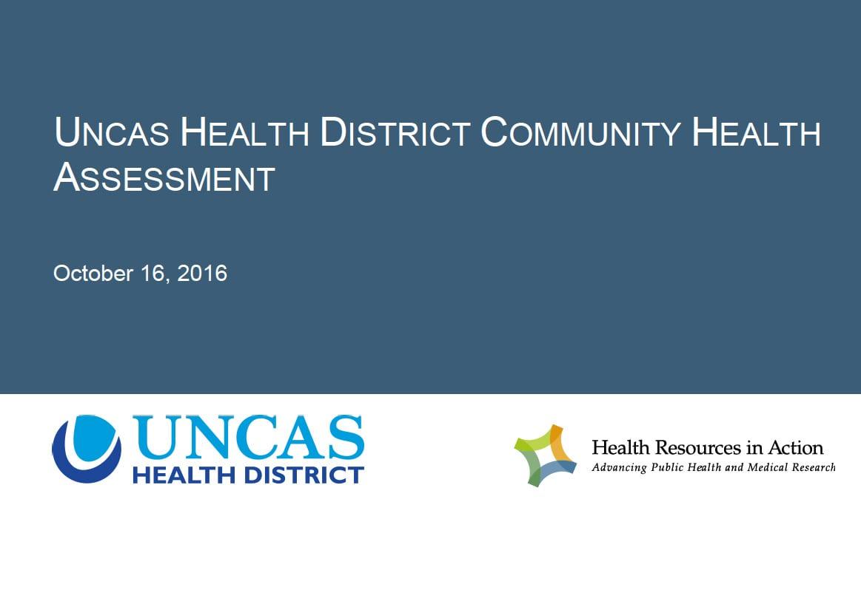 Uncas Health District Community Health Assessment